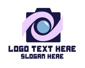 Swoosh Tech Camera Logo