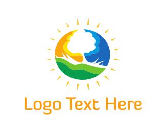 Climate - Sunny Tree  logo design