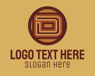 Wooden - Retro Vintage Letter D logo design