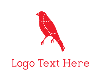 Butcher - Red Bird logo design