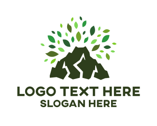 Volcano - Volcano Leaves logo design