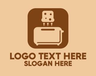 Dough - Bread Toaster Mobile App logo design