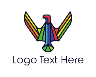 Pride - Rainbow Eagle logo design