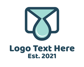 Water - Mail Drop  logo design
