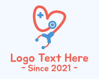Pharmaceutics - Stethoscope Heart logo design