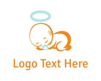 Angel - Sleeping Baby  logo design