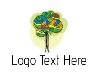 Colourful - Paint Tree logo design