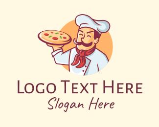 Chef - Italian Pizza Chef logo design