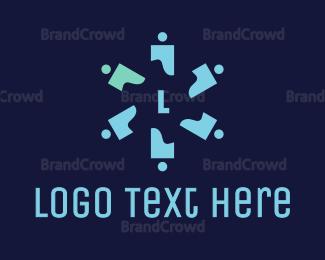 Crowdsourcing - Propeller People Lettermark  logo design
