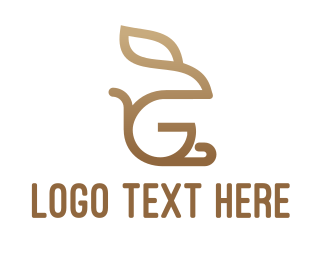 Buck - Monogram Rabbit G logo design