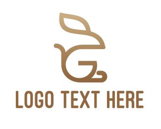 Doe - Monogram Rabbit G logo design