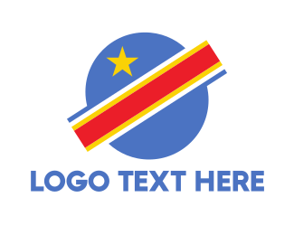 Saturn - Congo Planet Flag logo design