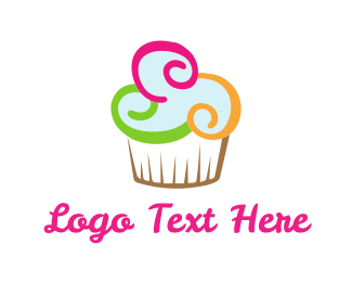 Colorful Cupcake Logo