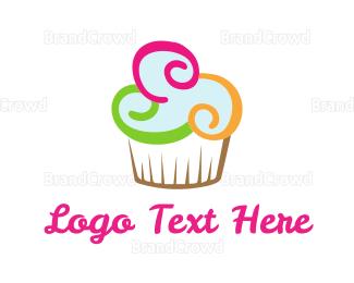 Cupcake - Colorful Cupcake logo design