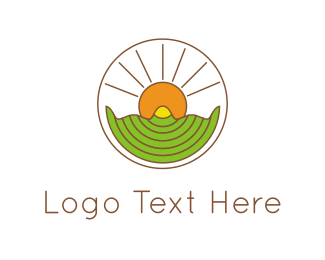 God - Sunshine Circle logo design