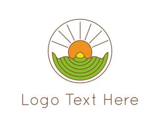 Farmer - Sunshine Circle logo design