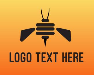 Bee Hive - Robot Bee logo design