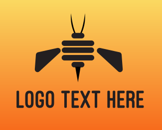 Robotics - Robot Bee logo design
