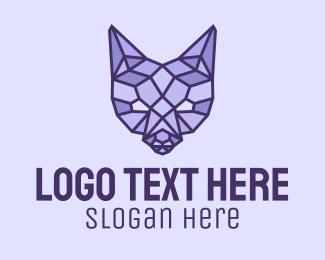 Geometrical - Geometric Fox Head logo design