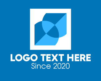 Image - Blue Intersecting Geometric Shape logo design