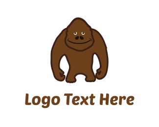 Brown - Brown Sasquatch logo design