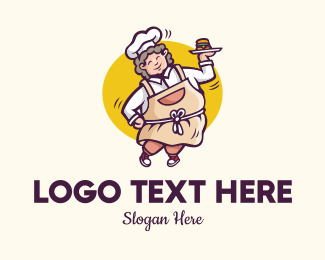 Buns - Burger Lady Restaurant  logo design