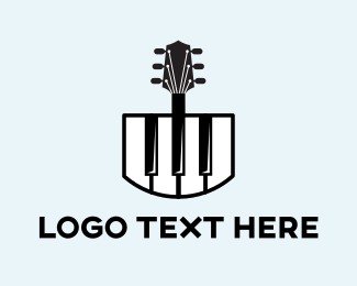 Harp - Piano & Guitar logo design