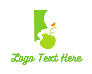 Eat - Green Food logo design