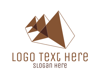 White And Brown - Brown Pyramids logo design