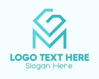 Jewelery - Blue Diamond Letter M logo design