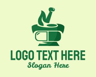 Medicine - Traditional Herbal Medicine logo design