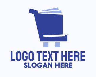 Librarian - Book Cart logo design