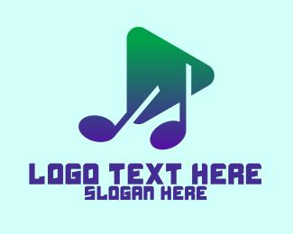 Electronic Music - Music Media Player logo design
