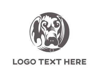White And Gray - Hound Circle logo design