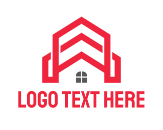 Rent - Red Church House logo design