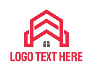 Church - Red Church House logo design