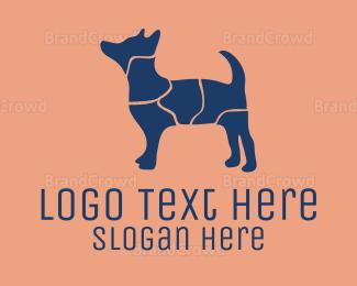 Dog Walking - Puzzle Dog logo design