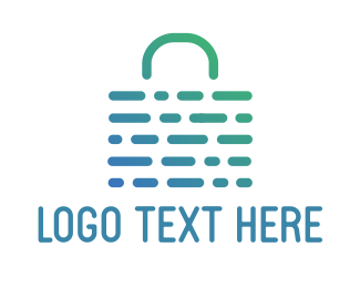 Weave - Abstract Weave Bag logo design