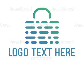 Biometric - Abstract Weave Bag logo design