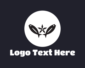 Fishing - Fish Circle logo design