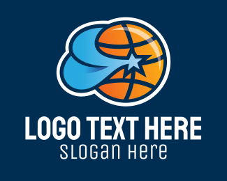 Basketball Star Team  Logo