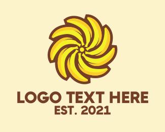 Sun - Banana Sun logo design
