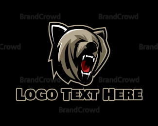 Carnivore - Bear Hunter Gaming  logo design