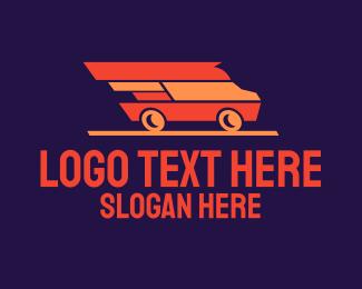 Van Company - Fast Delivery Van logo design