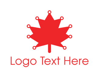 """""""Red Canadian Maple Leaf Technology"""" by shad"""