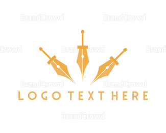 Fortune - Sword Pen logo design