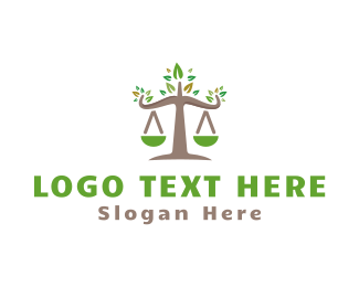 Lawyer - Nature Lawyer logo design