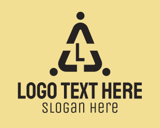 Company - People Warning Lettermark logo design