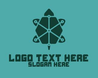 Digital Printing - Digital Green Turtle logo design