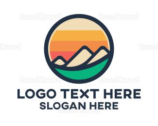 Everest - Mountain Valley Badge logo design